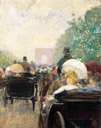 Carriage Parade | Hassam | Painting Reproduction
