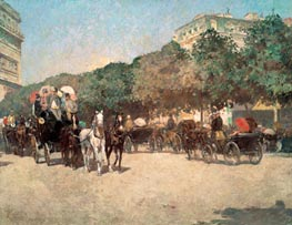 Grand Prix Day, 1887 by Hassam | Painting Reproduction