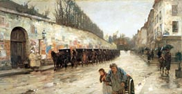 Une Averse - rue Bonaparte | Hassam | Painting Reproduction