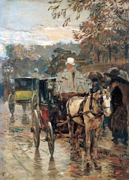 Carriage, Rue Bonaparte, 1888 by Hassam | Painting Reproduction
