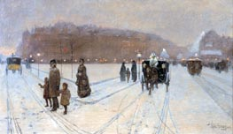 A City Fairyland, 1886 by Hassam | Painting Reproduction