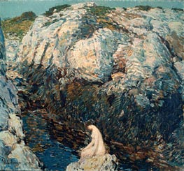 The Lady of the Gorge, 1912 by Hassam | Painting Reproduction