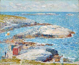 Bathing Pool, Appledore, 1907 by Hassam | Painting Reproduction