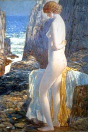 Nude, Appledore, Isle of Shoals, 1913 by Hassam | Painting Reproduction