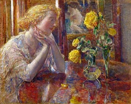 Marechal Niel Roses, 1919 by Hassam | Painting Reproduction