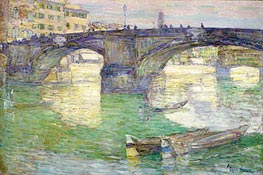 Ponte Santa Trinita, 1897 by Hassam | Painting Reproduction