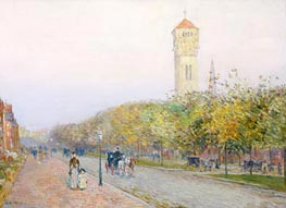 Commonwealth Avenue, Boston | Hassam | Painting Reproduction