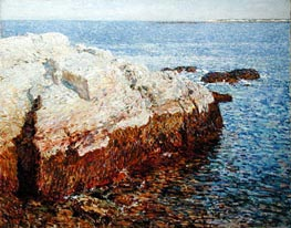 Cliff Rock, Appledore, 1903 by Hassam | Painting Reproduction