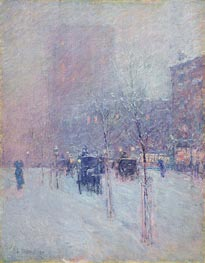 Late Afternoon, New York, Winter, 1900 by Hassam | Painting Reproduction