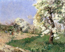Pear Blossoms, Villiers-de-Bel | Hassam | Painting Reproduction