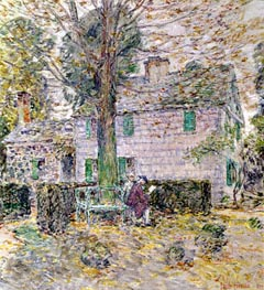 Indian Summer in Colonial Days, 1899 by Hassam | Painting Reproduction