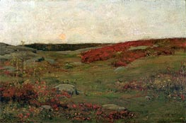 Sunrise, Autumn, c.1885 by Hassam | Painting Reproduction