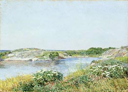 The Little Pond, Appledore, 1890 by Hassam | Painting Reproduction