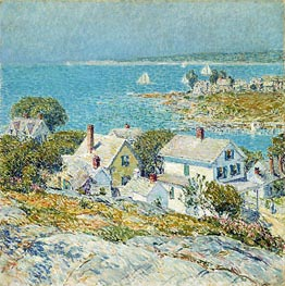 New England Headlands, 1899 by Hassam | Painting Reproduction