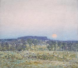 September Moonrise | Hassam | Painting Reproduction