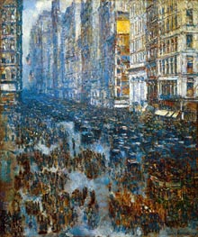 Fifth Avenue, 1919 by Hassam | Painting Reproduction