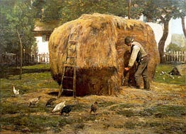 The Barnyard, 1885 by Hassam | Painting Reproduction