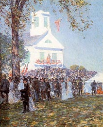 County Fair, New England | Hassam | Painting Reproduction