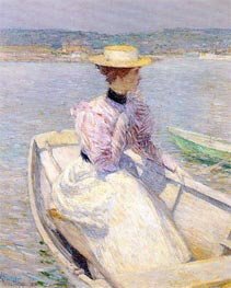 The White Dory, Gloucester | Hassam | Painting Reproduction