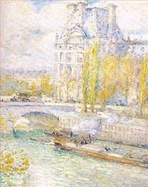 Le Louvre et le Pont Royal, 1897 by Hassam | Painting Reproduction