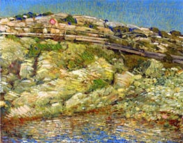 Walk Around the Island, 1890 by Hassam | Painting Reproduction