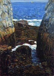 The North Gorge, Appledore, Isles of Shoals | Hassam | Painting Reproduction