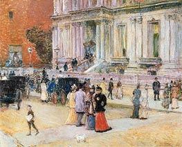 The Manhattan Club | Hassam | Painting Reproduction