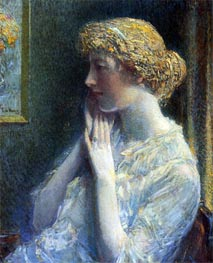 The Ash Blond, 1918 by Hassam | Painting Reproduction