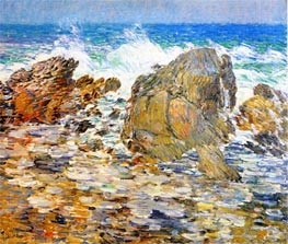 Surf, Appledore, undated by Hassam | Painting Reproduction
