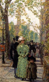 Sunday Morning, undated by Hassam | Painting Reproduction