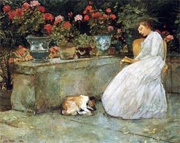 Reading, 1882 by Hassam | Painting Reproduction