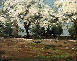 Blossoms, c.1880 by Hassam | Painting Reproduction