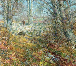The Stone Bridge, Old Lyme, 1904 by Hassam | Painting Reproduction