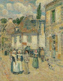 Pont-Aven, 1897 by Hassam | Painting Reproduction