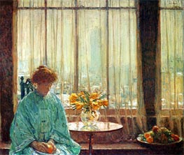 The Breakfast Room, Winter Morning | Hassam | Painting Reproduction
