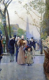 Fifth Avenue aka Sunday on Fifth Avenue | Hassam | Painting Reproduction
