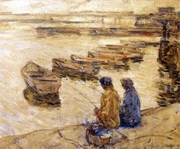 Fishing | Hassam | Painting Reproduction