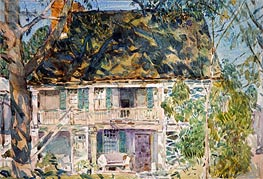 The Brush House, 1916 von Hassam | Gemälde-Reproduktion