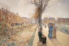The Public Garden (Boston Common), c.1885 von Hassam | Gemälde-Reproduktion