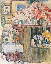 The Altar and Shrine, 1892 by Hassam | Painting Reproduction