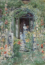 The Garden in Its Glory, 1892 by Hassam | Painting Reproduction