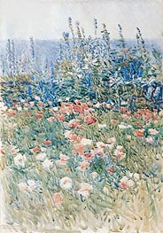 Flower Garden, Isles of Shoals, 1893 by Hassam | Painting Reproduction