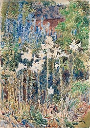 Flower Garden, 1893 by Hassam | Painting Reproduction