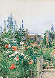 Home of the Hummingbird, 1893 by Hassam | Painting Reproduction