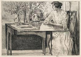 The Colonial Table, 1915 by Hassam | Painting Reproduction