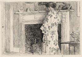 The White Kimono | Hassam | Painting Reproduction