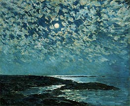 Moonlight, Isle of Shoals, 1892 by Hassam | Painting Reproduction