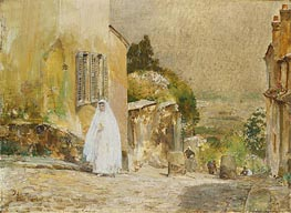 Spring Morning, rue Mt. Cenis, Montmartre, 1889 by Hassam | Painting Reproduction