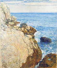 The East Headland, Appledore - Isles of Shoals, 1908 von Hassam | Gemälde-Reproduktion