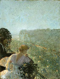 Summer Evening, Paris, undated by Hassam | Painting Reproduction